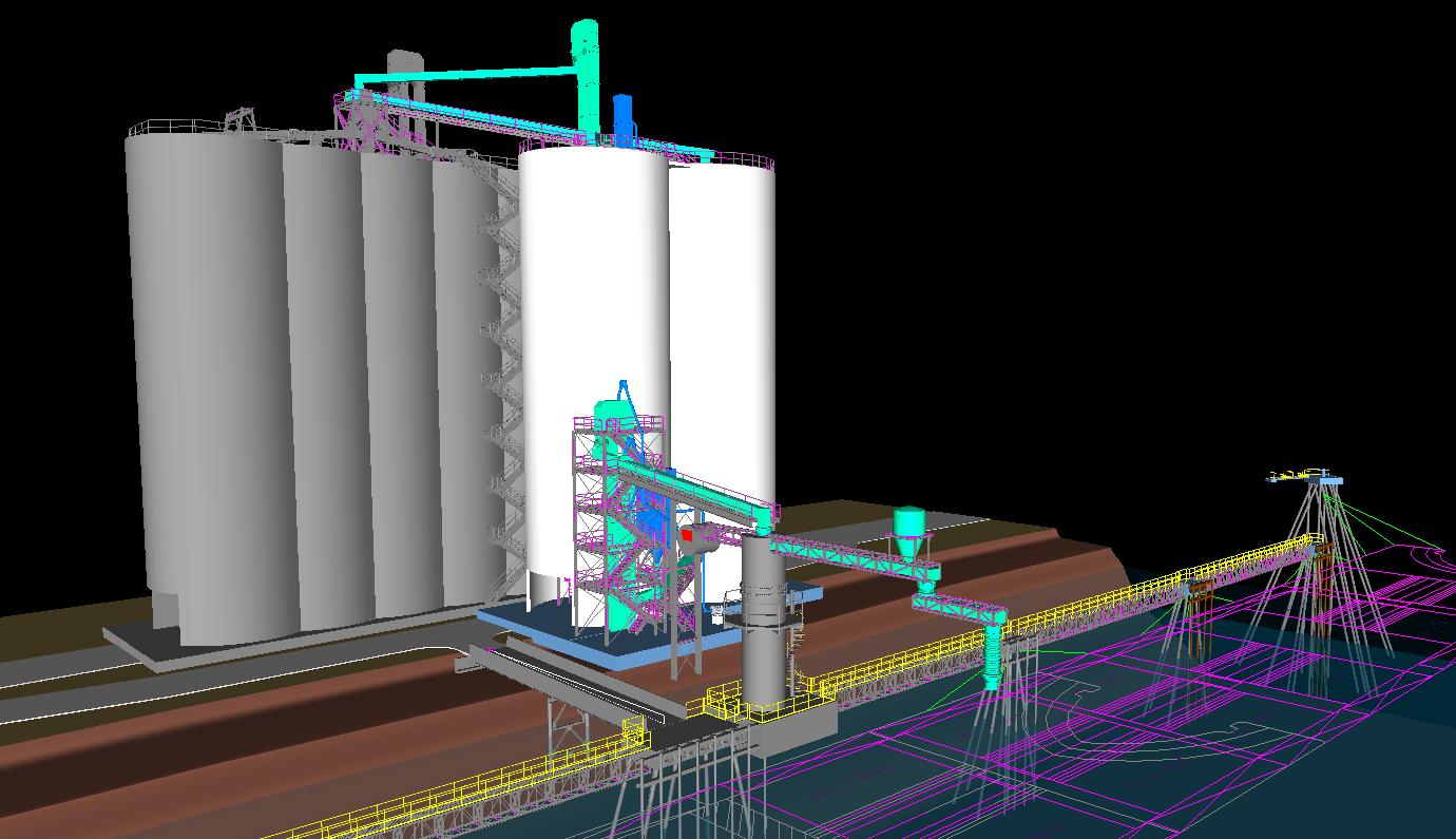 Cement Distribution Terminal 3D Model