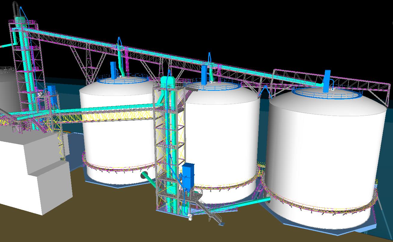 Cement Import Terminal 3D Model